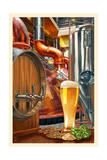 The Art of Beer - Brewery Scene Art by  Lantern Press