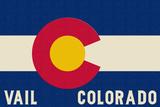 Vail, Colorado - Colorado State Flag Reprodukcje autor Lantern Press
