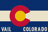 Vail, Colorado - Colorado State Flag Prints by  Lantern Press