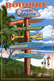 Bonaire, Dutch Caribbean - Sign Destinations Poster by  Lantern Press