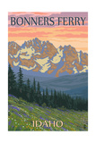 Bonners Ferry, Idaho - Bears and Spring Flowers Prints by  Lantern Press