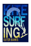Outer Banks, North Carolina - Kite Surfing Silhouette Posters by  Lantern Press