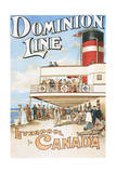 Dominion Line - Liverpool to Canada - Vintage Poster Posters by  Lantern Press