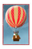 Hot Air Balloon Tours - Vintage Sign Posters by  Lantern Press