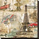 In Paris Reproduction transférée sur toile par Tyler Burke