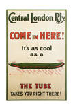 Central London Underground Railway - Cucumber Vintage Poster Prints by  Lantern Press