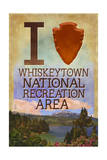 I Heart Whiskeytown National Recreation Area Poster by  Lantern Press