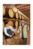 Walla Walla, Washington - Wine Barrels Prints
