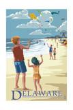Delaware - Kite Flyers Poster