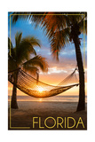 Florida - Hammock and Sunset Affiches par  Lantern Press