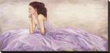Donna in Rosa Stretched Canvas Print by Andrea Bassetti