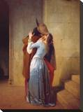 ll Bacio Stretched Canvas Print by Francesco Hayez