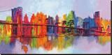 Manhattan abstracto Reproducción en lienzo de la lámina por Brian Carter