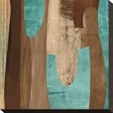 Aqua Turns II Leinwand von K. Baker