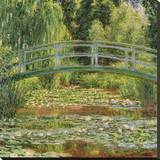 Le Pont Japonais, Giverny Stretched Canvas Print by Claude Monet