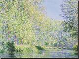 The Epte River near Giverny Stretched Canvas Print by Claude Monet