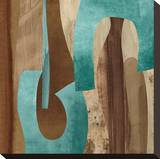 Aqua Turns I Leinwand von K. Baker