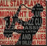 Jazz II Stretched Canvas Print by Luke Wilson