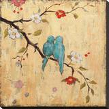 Love Birds II Stretched Canvas Print by Katy Frances