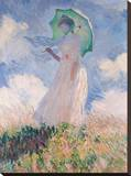 Woman with Parasol Stretched Canvas Print by Claude Monet