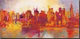 Abstract New York City Sträckt Canvastryck av Brian Carter