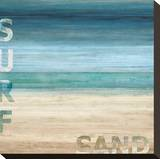 Surf and Sand Stretched Canvas Print by Luke Wilson