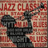 Jazz I Stretched Canvas Print by Luke Wilson
