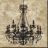 Chandelier I Stretched Canvas Print by Oliver Jeffries