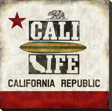 Cali Life Stretched Canvas Print by Luke Wilson