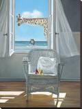 Rubberneck Stretched Canvas Print by Karen Hollingsworth