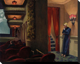 New York Movie, 1939 Stretched Canvas Print by Edward Hopper