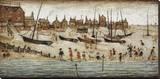 The Beach, 1947 Leinwand von Laurence Stephen Lowry