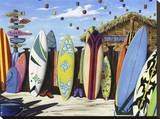 Surf Shack Stretched Canvas Print by Scott Westmoreland
