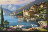 Villa Bella Vista Stretched Canvas Print by Sung Kim