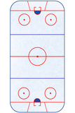 Hockey Rink Layout Sports Poster Reprodukcje