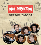 One Direction - Four Badge Pack Badge