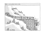 """This is What Happens When We Die"" -- A Train with cars marked ""Childhood … - New Yorker Cartoon Premium Giclee Print by Jack Ziegler"
