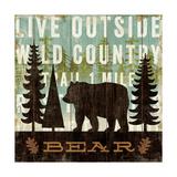 Simple Living Bear Giclee-tryk i høj kvalitet af Michael Mullan