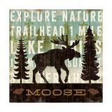 Simple Living Moose Giclee-tryk i høj kvalitet af Michael Mullan