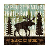 Simple Living Moose Prints by Michael Mullan