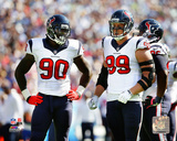 Jadeveon Clowney & J.J. Watt 2014 Action Photo