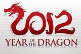 2012 Year of the Dragon Silver Poster Prints