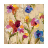 Bold Bright Flowers II Giclee-tryk i høj kvalitet af Silvia Vassileva