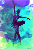 Ballerina Watercolor 4 Poster van Irina March