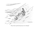 """Do you have any idea how fast you were evolving?"" - New Yorker Cartoon Premium Giclee Print by Mick Stevens"