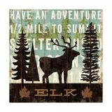 Simple Living Elk Premium Giclee Print by Michael Mullan