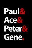 Paul Ace Peter and Gene Music Poster Posters