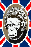 Monkey Queen Union Jack Graffiti Poster