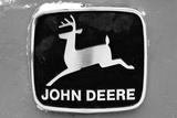 John Deere Vintage Tractor Emblem Black White Photo Poster Prints