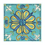 Tuscan Sun Tile IV Color Premium Giclée-tryk af Anne Tavoletti